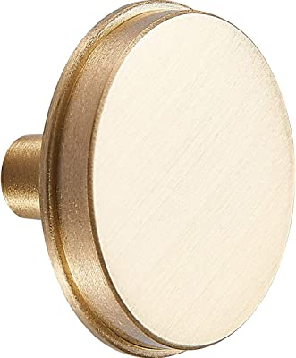 Baldwin 5030 Pair of Estate Knobs Without Rosettes Satin Brass and Black 5030050MR