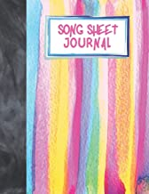 Song Sheet Journal: Watercolors Stripes Blank Music Sheets To Write Your Own Songs For Girls, Women, Musician Students And Professionals