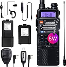 TIDRADIO UV-5R High Power Ham Radio Handheld Dual Band Two Way Radio with One More 3800mAh Battery Includes Full Kit Walki...