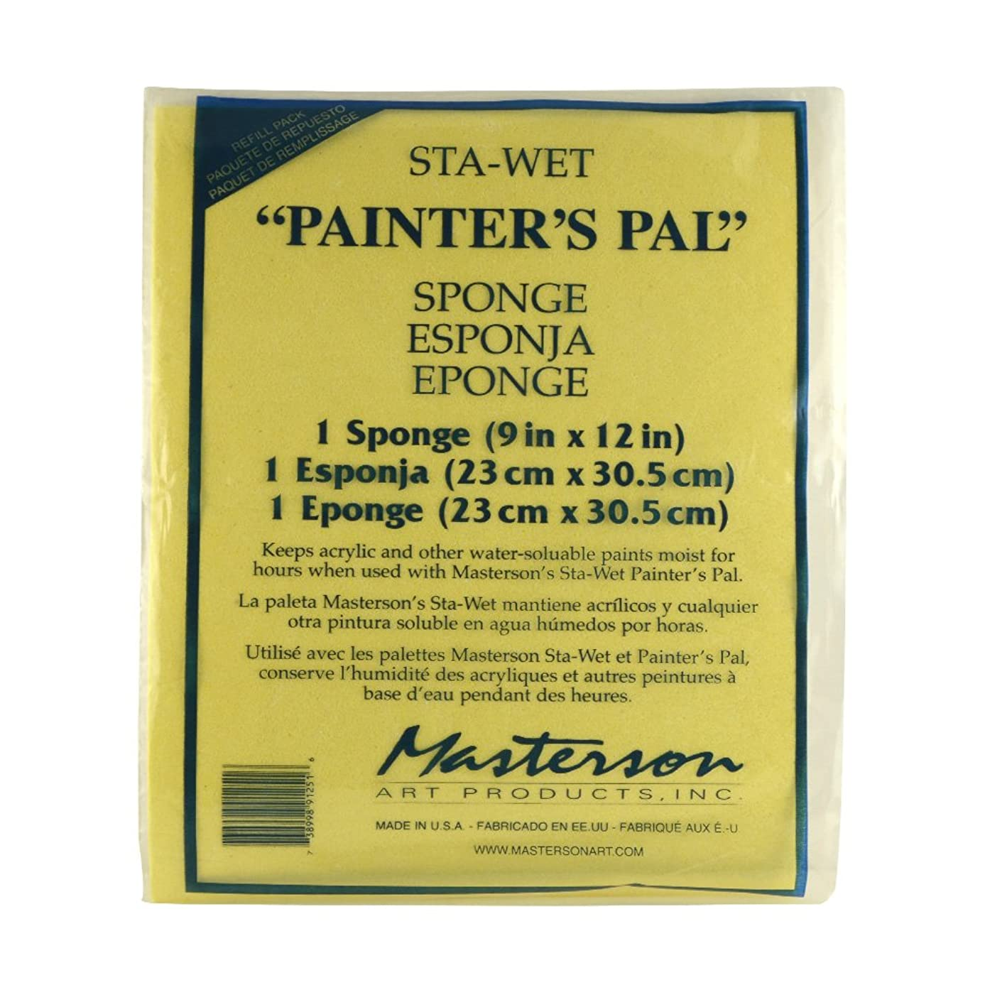 Masterson Sta-Wet Painter's Pal Sponge Refill, 12 X 13 inches, Package of 1 (912.51)