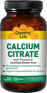 Country Life Calcium Citrate with Vitamin D 120 Tabs