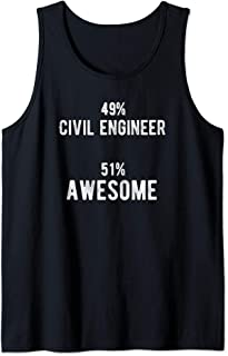 49% Civil Engineer 51% Awesome - Job Title Tank Top