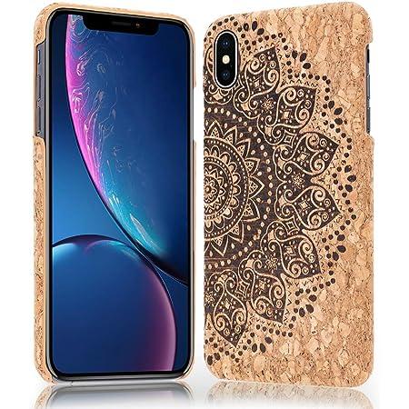 NALIA Sughero Custodia compatibile con iPhone X XS, Sottile Cover Effetto Legno Hard-Case Protettiva per Cellulare, Rigida Protezione Ultra-Slim ...