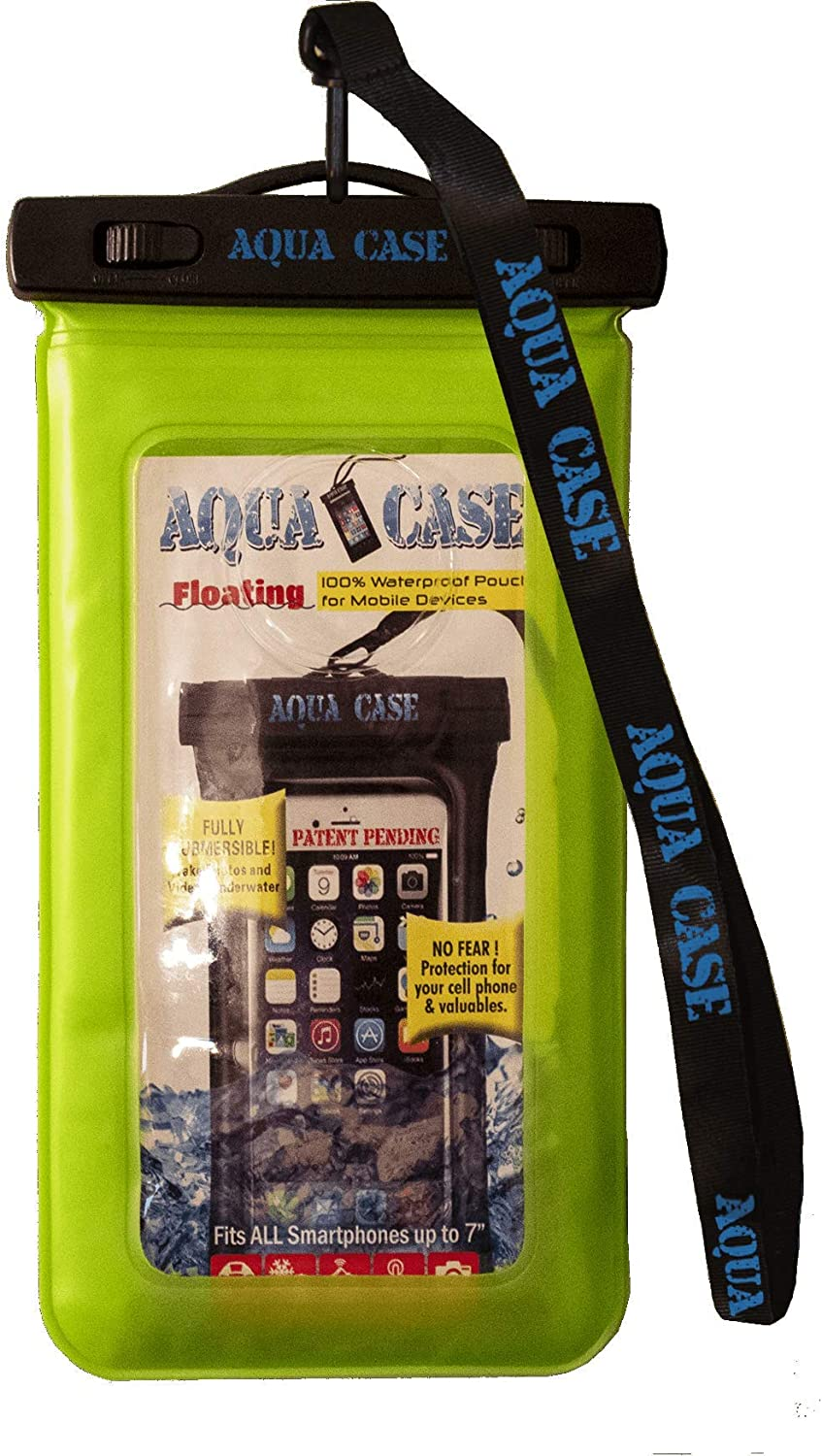 AQUA CASE Plus (Green) - Floating 100% Waterproof Cell Phone case Dry Bag Pouch Universal Size for iPhone 11 pro Max XS XR X 8 7 6S Plus Galaxy S20+ S10 S9 S8 Note/Edge