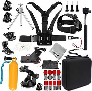 Gurmoir Sports Action Camera Accessories Kit Outdoor Travel Camera Accessories Kit for GoPro Hero 9/8/Hero 7 Black/6/5/4Se...