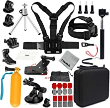 Gurmoir Camera Accessories Kit Sports Action Camera Accessories Kit for GoPro Hero 7 Black/6/5/4Session5/4/DJI Osmo Action/SJ4000/SJ5000/SJ5000X/SJCAM/AKASO/APEMAN and More Action Cameras(GT08)