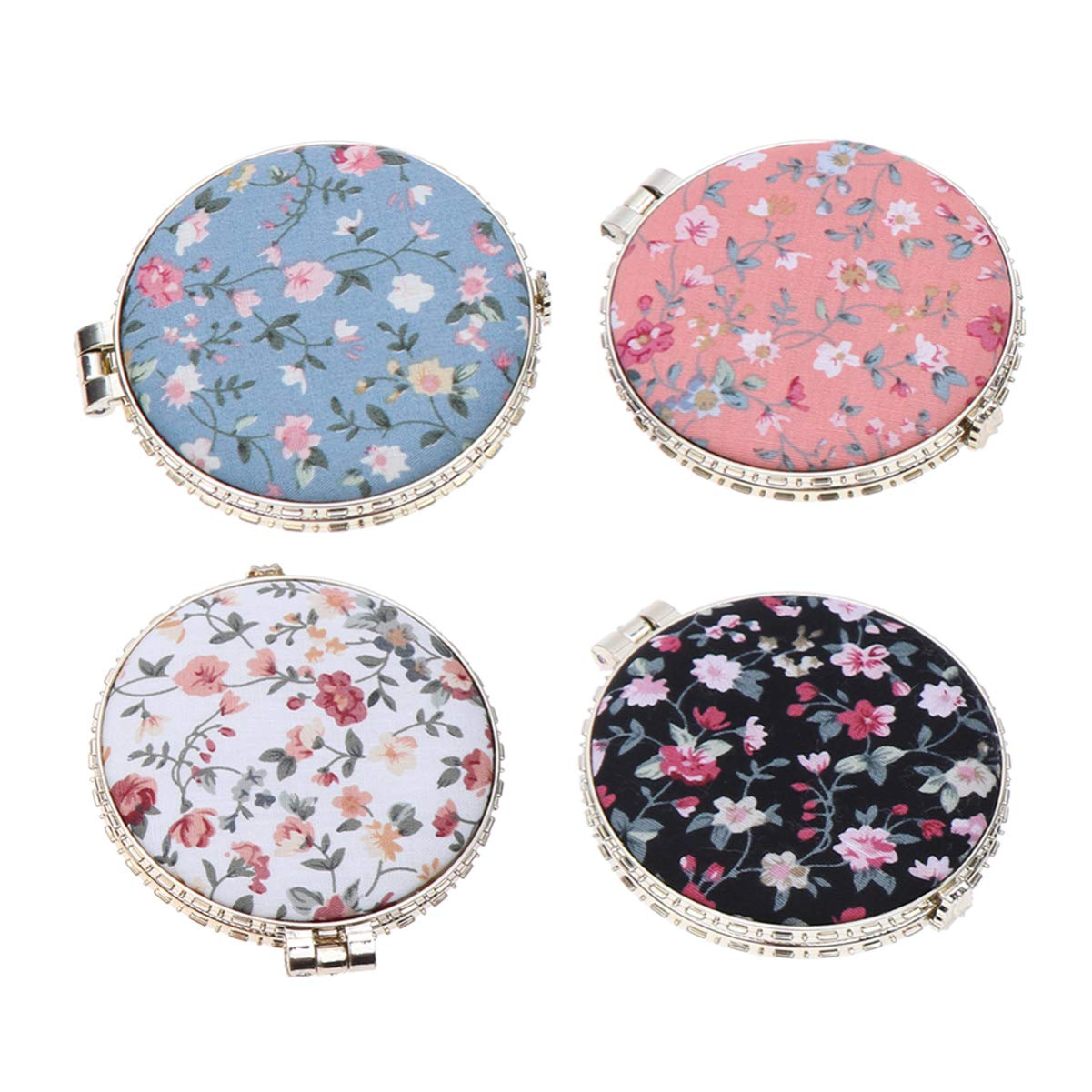 LEORX 4pcs Pocket Mirror Free Shipping Cheap Bargain Gift Vintage Do Japan Maker New Floral Round Foldable