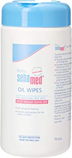 Sebamed Baby Oil Wipe, 70 Pieces