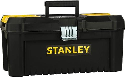 Stanley STST1-75518 Boite À Outils Plastique avec 2 Organiseurs Sur Le Couvercle - Plateau Porte-Outils - Larges Atta...