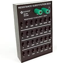 Elenco Resistance Substitution Box | Resistance Range From 1Ω To 11, 111 , 110MΩ | 1% Precision: 1Ω-40kΩ- 1 Watt/ 100kΩ- 4MΩ- 1/2 Watt