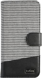 オウルテック 5.2インチサイズまでの各種スマートフォン対応 マルチ手帳型ケース Xperia/Galaxy/AQUOS PHONE/ARROWS/HTC/iPhone6s等に対応可能 スタンド機能 カードケース付 千鳥格子 ブラック/ホワイト OWL-CVMU03CG-BKW