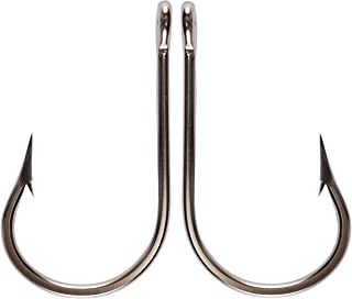Sharp Steel Shark Fishing Hooks Forged Stainless Steel Fishing Hooks Knife Edge Point Round Bend Ringed Eye Sea Big Game Tuna Bait Hook Sizes 3/0-13/0