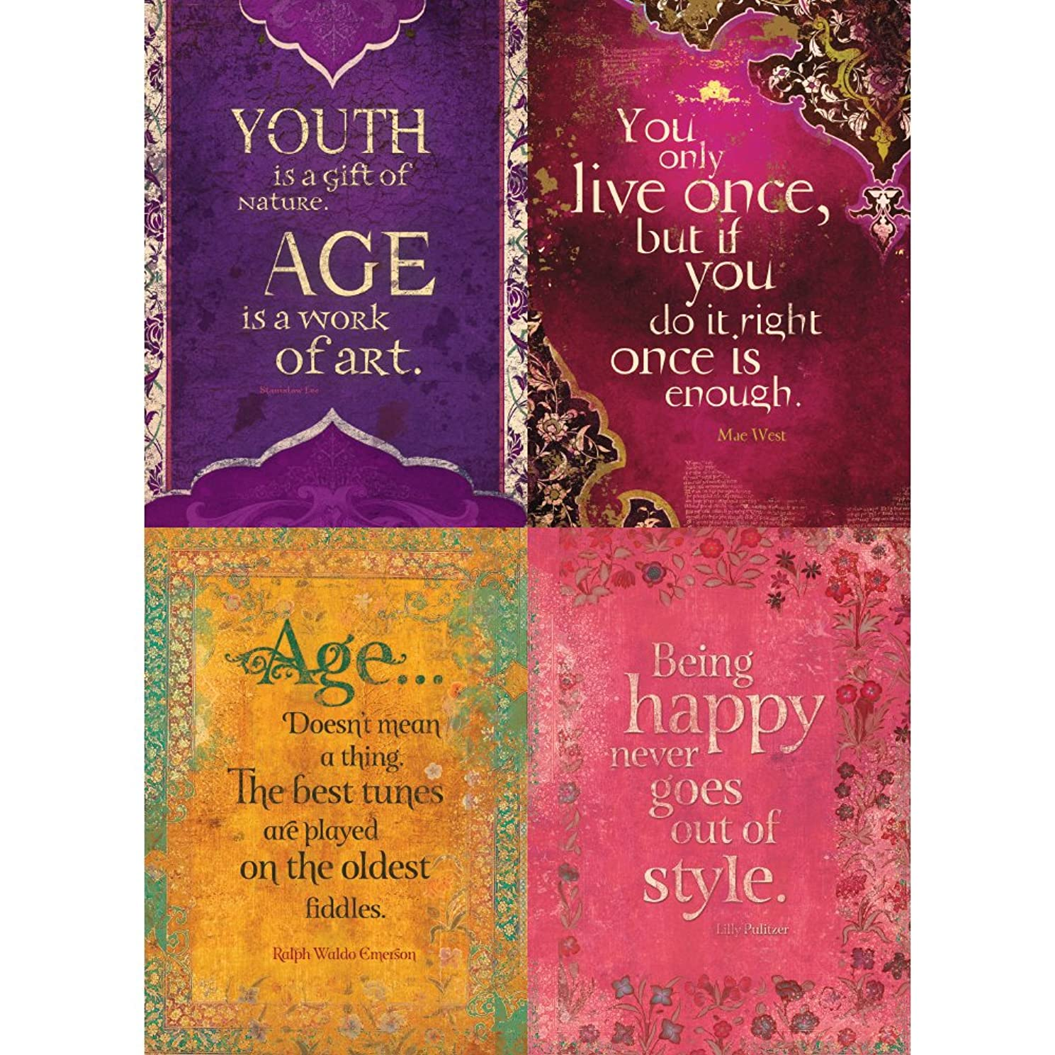 Tree-Free Greetings Youth is a Gift Birthday Card Assortment, 5 x 7 Inches, 8 Cards and Envelopes per Set (GA31593)
