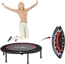 RUXINGGU Fitness trampoline met optionele inklapfunctie Ø 40 inch - stille en gewrichtsvriendelijke bungee-touwen verstelb...