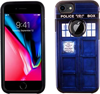 iPhone 7 Case, IMAGITOUCH 2-Piece Style Armor Case with Flexible Shock Absorption Case and Doctor Who Tardis Police Box Cover for 4.7