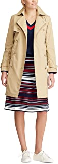 womens Double Breasted Waterproof Trench Classic Overcoat Jacket