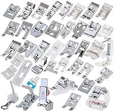 Pies prensatelas profesionales de 42-pieza, máquina de coser doméstica profesional Cochanvie Juego de prensatelas para Brother, Babylock, Singer, Janome, Elna, Toyota, New Home, Simplicity, etc