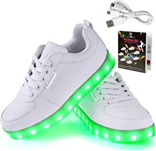 newest 36c39 6b358 Shinmax LED ChaussuresLED Chaussures, Chaussure LED Sports Basket Lumineuse  7 Couleur USB Charge Chaussure Clignotants