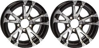2-Pack Aluminum Trailer Rims Wheels 5 Lug 14 in. Avalanche V-Spoke/Black