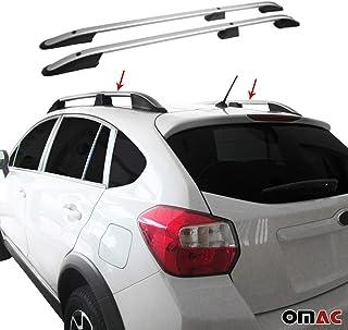 OMAC Aluminium Grau Dachreling Dachgepäckträger für XV 2012 2020 Relingträger Gepäckträger mit TÜV ABE Fahrzeugspezifisch