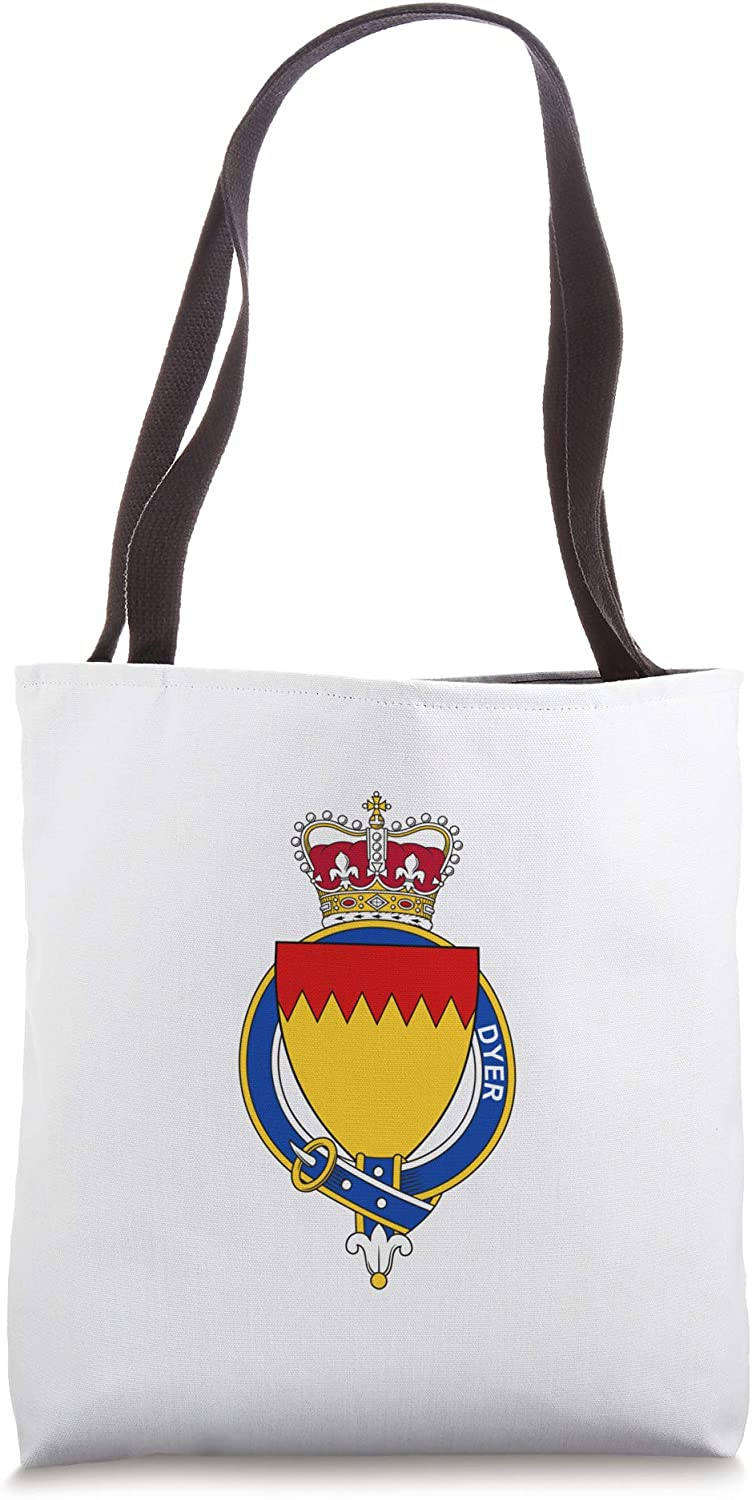 Dyer Coat of Arms - Family Crest Tote Bag