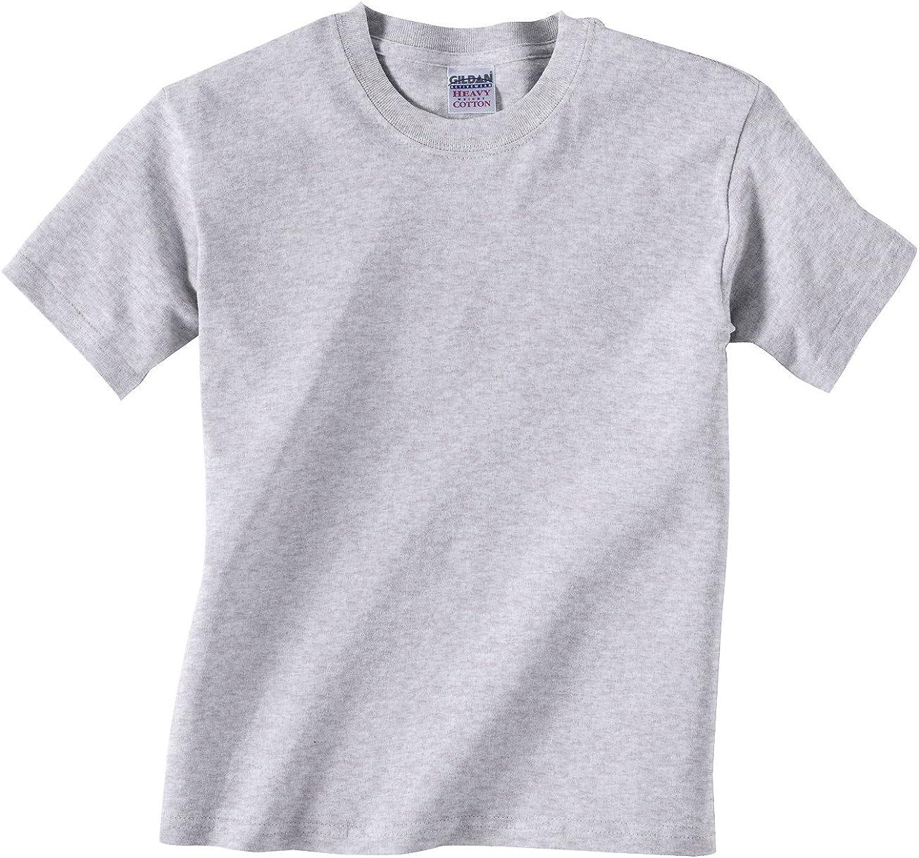 Gildan Youth 5.3 oz. Heavy Cotton T-Shirt, Ash, X-Large