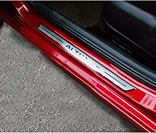 4Pcs Auto Stainless Steel Door Sill Kick Plates, for Nissan Altima 2018-2020 Threshold Pedal Anti Scratch Sticker Trim Pro...