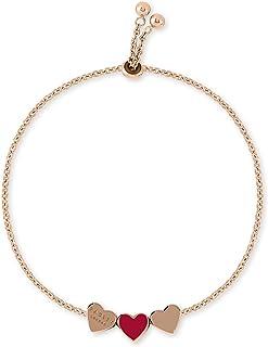 RADLEY Hello Love Ladies Rose Gold Adjustable Red Enamel Heart Bracelet RYJ3092S.