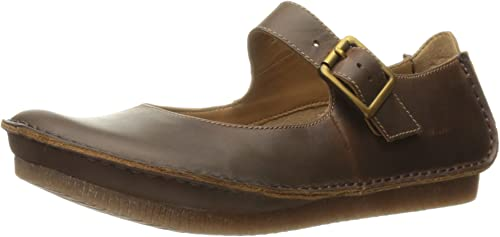 Clarks Wohommes Janey June Mary Jane Flat, Beeswax Leather, 6 M US