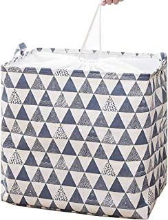 YINGD Household Storage Bag - Clothes Blanket Quilt Luggage Toy Bag with Beam Mouth Waterproof Closet Storage Bag (Blue Wh...