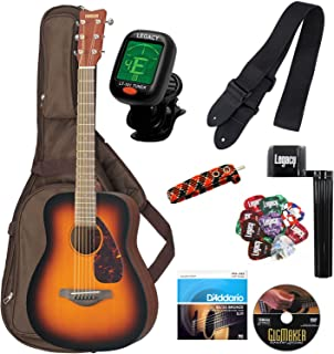 Yamaha JR2 FG Junior 3/4 Size Acoustic Guitar in Tobacco Brown Sunburst Finish with Gig Bag and Legacy Accessory Bundle