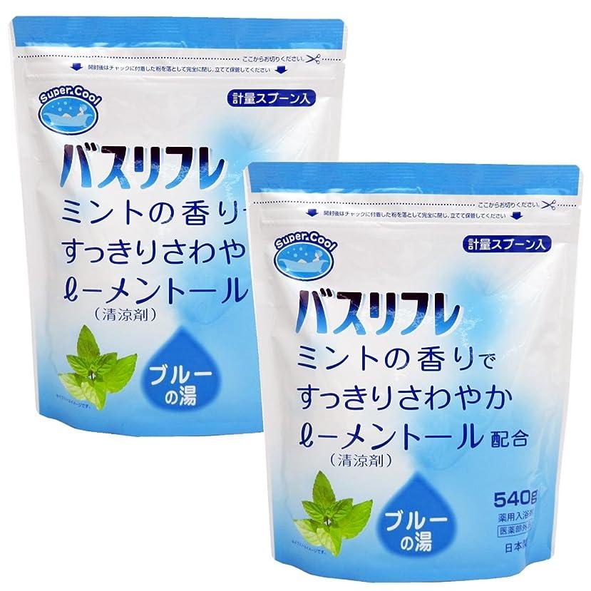 スプーン詳細にシャツ入浴剤 クール 薬用入浴剤 バスリフレ スーパークール540g×2個セット 日本製