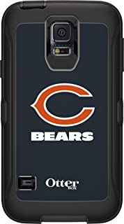 OtterBox Defender Case for Samsung GALAXY S5 - Retail Packaging - NFL Bears (Black Chicago Bears NFL Logo)