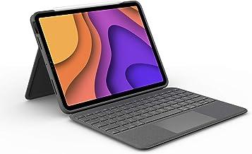 کیف صفحه کلید iPad Logitech Folio Touch با ترک پد و اتصال هوشمند برای iPad Air (نسل چهارم) - Graphite