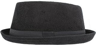 comprar comparacion Hawkins Pork Pie H95 - Sombrero de Pana Negro (Hombres, Mujeres, Unisex)