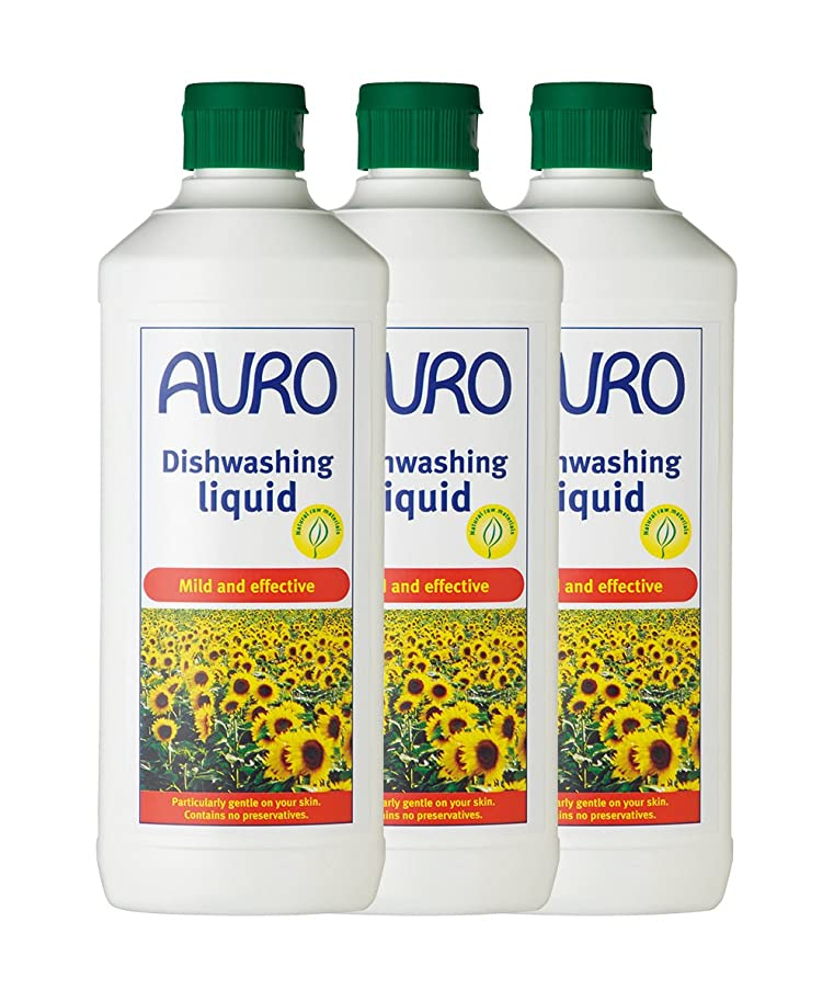 馬力大きさ確かにAURO(アウロ) No.453 食器用洗剤 3本セット(500ml×3)
