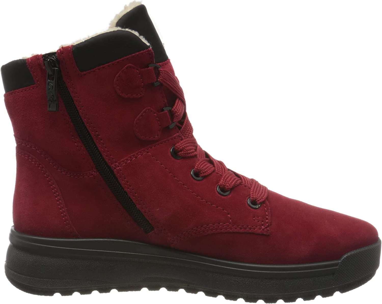 ara Women's Aspen Snow Boot, Campari, Black, 3.5 UK