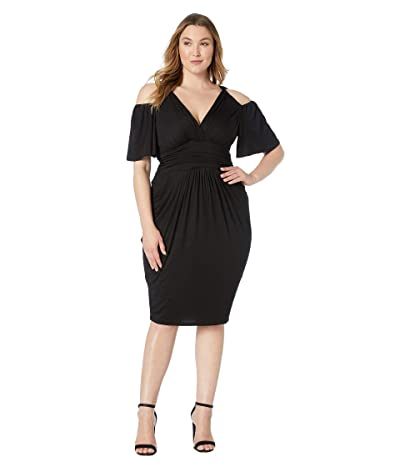 Kiyonna Tantalizing Twist Dress (Black Noir) Women