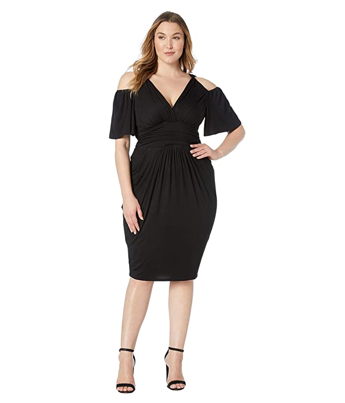 Kiyonna Tantalizing Twist Dress (Black Noir) Women's Dress
