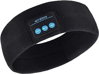 Casque Bluetooth Bandeau 5.0 avec masque de sommeil, écouteurs 3D sans fil, cache-œil en forme de musique de voyage, avec ...