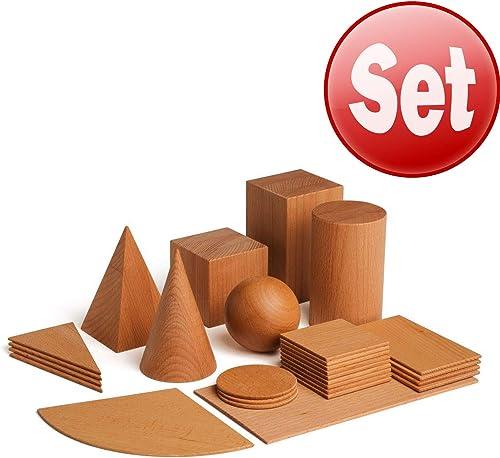 Erzi Lernspiel Geometrische  , 28-teiliges Holzspielzeug für Kinder