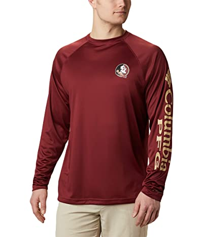 Columbia College Florida State Terminal Tackletm Long Sleeve Shirt (Cabernet/Sierra Tan) Men