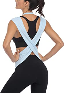 ATTRACO Workout Tank Tops for Women Cross Back Loose Fit Yoga Tops Activewear