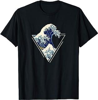 Kanagawa Art japonais La grande vague Esthétique Vintage T-Shirt