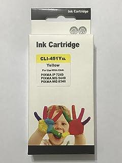ink 451 y comptable with printer canon ip7240-ix6840-mg5640