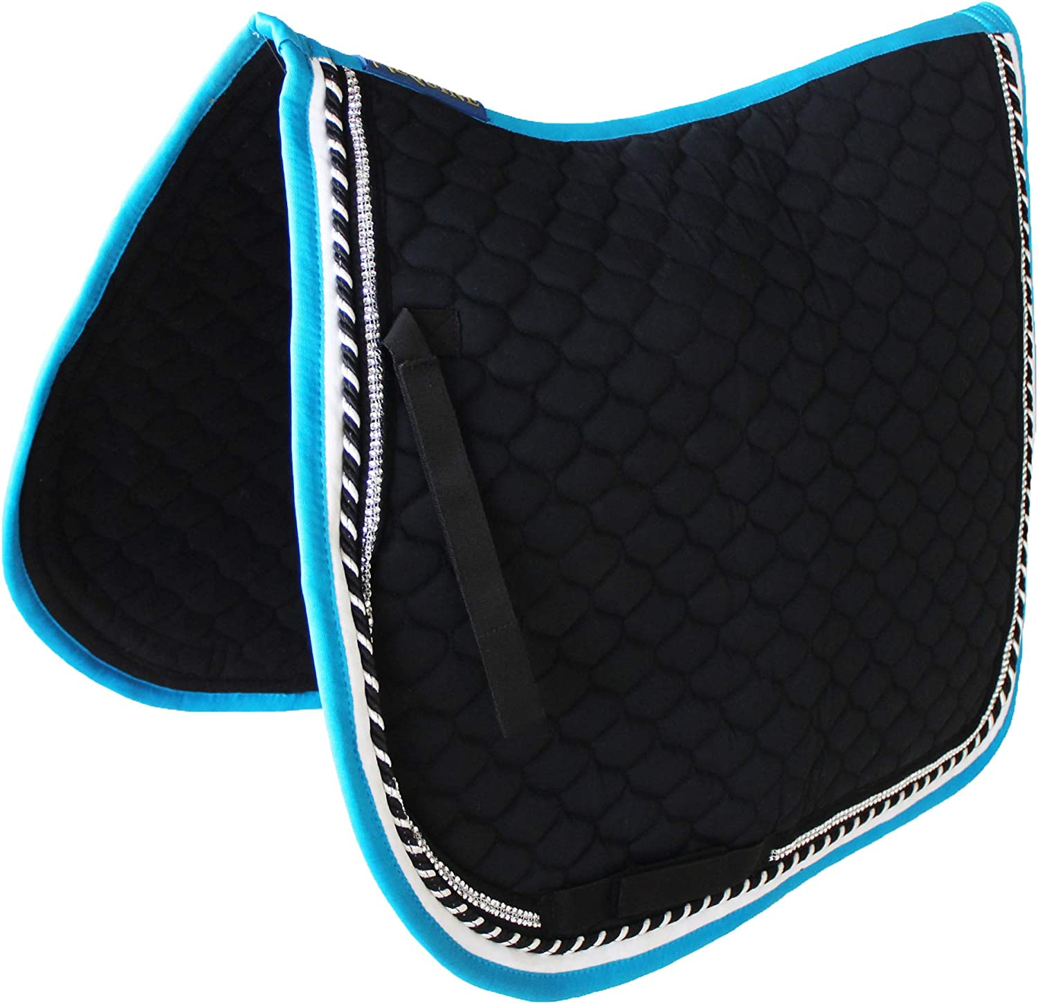 Professional Equine Horse Cotton All Purpose Quilted English Saddle PAD Trail Contoured White 72F26