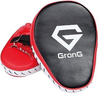 GronG(グロング) パンチングミット ボクシング ミット 左右兼用セット 湾曲型