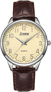 Sponsored Ad - Women's Genuine Leather Strap Wrist Watch with Japanese Quartz,Stainless Steel Case,50M Water Resistant