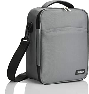 OZCHIN Insulated Lunch Bag for Men Women Soft Reusable Lunch Box Cooler Bag for Adults(Grey-G)