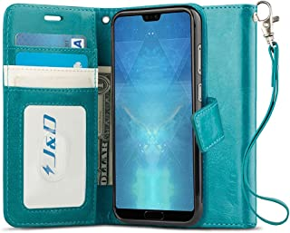 J&D Case Compatible for Huawei P20 Case, [WalletStand] [Slim Fit] Heavy Duty Protective Shock Resistant Flip Cover Wallet Case for Huawei P20 Wallet Case - [Not for Huawei P20 Pro/P20 Lite]
